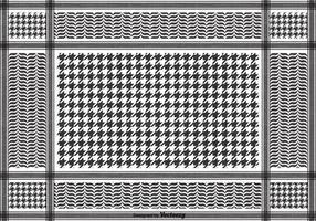 Vecteur libre pattern keffiyeh noir