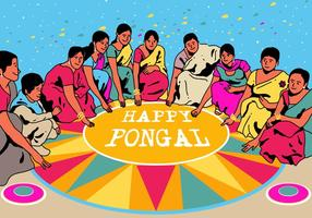 Glad Pongal Vector