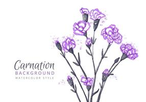 Free Carnation Flowers Background vector