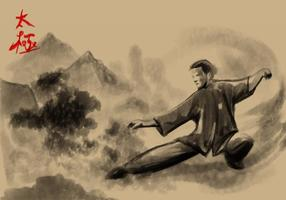 Tai Chi målning Vector