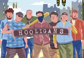 Coleção de Hooligans do vetor
