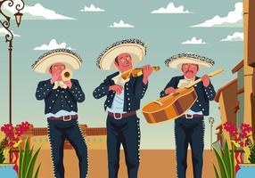 Group Of Mariachi vector