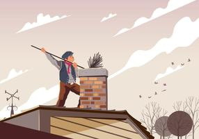 Chimney Sweep Cleaning A Pipe