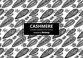 Black and White Cashmere Pattern  vector