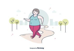Grosses femmes faisant du jogging