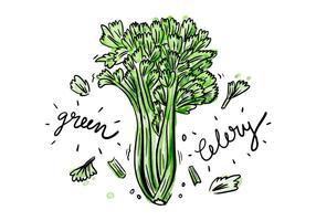 Gratis Celery Akvarell Vector