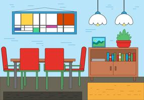 Free Dining Room Vector Design