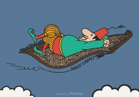 Free Vector Magic Carpet Illustration