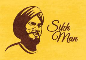 Vector Illustration of Sikh Man