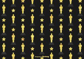 Fondo libre del vector de la estatuilla de Oscar