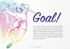 Gratis Goal Keeper Vector Illustratie