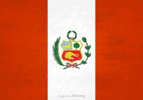 Vector libre Grunge Bandera de Perú