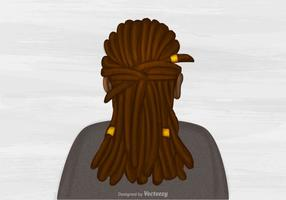 Gratis Vector Dreads Kapsalon Illustratie