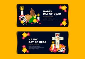 Day of Dead Banner Vectors