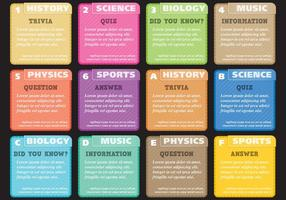 Trivia And Quiz Cards