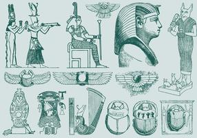 Green Egypt Art vector