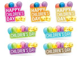 Childrens Day Titles vector