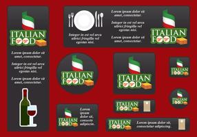 Italian Food Banners vector