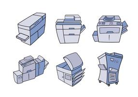 Photocopier cartoon vector illustration