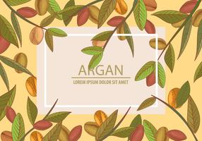 Argan Seamless And Background Template Concept vector
