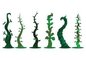 Watercolor Beanstalk Vectors