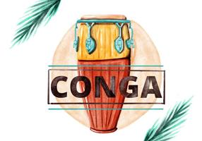 Free-conga-watercolor-vector