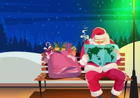 Sinterklaas Santa Reading Vector