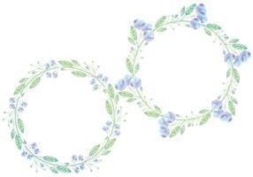 Grinaldas florais de vetores
