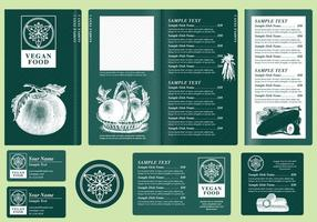 Vegetarian Menu Templates vector