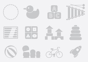 Gray Toy Icons vector