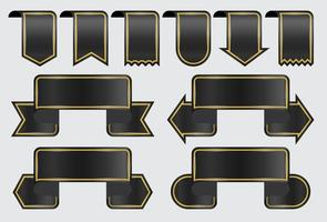 Black Ribbon Banners