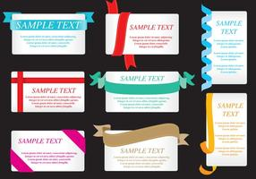 Ribbon Cards vector