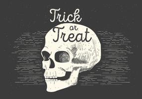 Libre Spooky Vector Cráneo