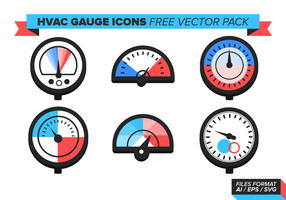 HVAC Gauge Icons Gratis Vector Pack