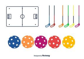 Floorball Vector Pictogrammen