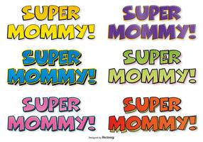 Super Mom Comic Labels