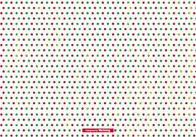 Grunge Polka Dot Christmas Background