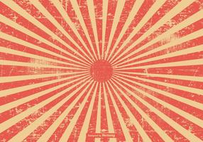 Red Grunge Style Sunburst Background vector