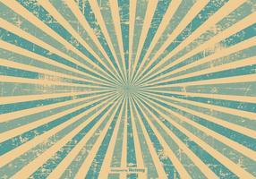 Blue Grunge Style Sunburst Background