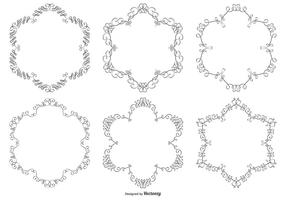 Prydnad vektor ram samling