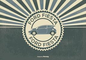 Retro Style Ford Fiesta Illustratie