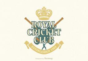 Emblème gratuit de cricket vector