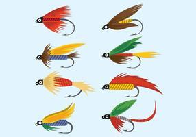 Vector de pesca con mosca señuelos gancho