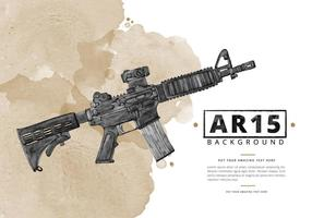 Free Ar15 Watercolor Background vector
