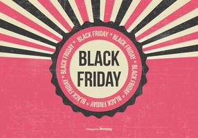 Retro illustrazione di Black Friday