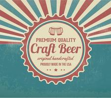Contexte promotionnel rétro Crafted Beer