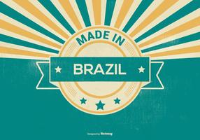 Made In Brazil Retro Illustration