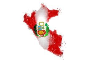 Målad Peru Flagg Vektor
