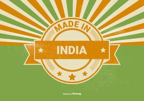 Retro Style Made in India Illustration