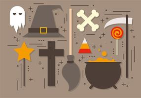 Gratis Halloween Elements Vector Collectie